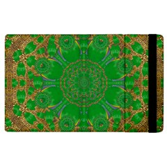 Summer Landscape In Green And Gold Apple Ipad 3/4 Flip Case by pepitasart