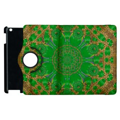 Summer Landscape In Green And Gold Apple Ipad 3/4 Flip 360 Case by pepitasart
