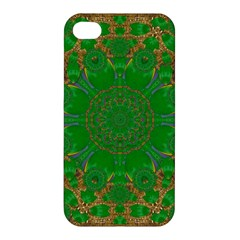 Summer Landscape In Green And Gold Apple Iphone 4/4s Premium Hardshell Case by pepitasart