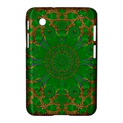 Summer Landscape In Green And Gold Samsung Galaxy Tab 2 (7 ) P3100 Hardshell Case  by pepitasart