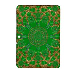 Summer Landscape In Green And Gold Samsung Galaxy Tab 2 (10 1 ) P5100 Hardshell Case  by pepitasart
