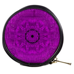 Purple Mandala Fashion Mini Makeup Bags by pepitasart
