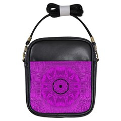 Purple Mandala Fashion Girls Sling Bags by pepitasart