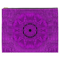 Purple Mandala Fashion Cosmetic Bag (xxxl)  by pepitasart