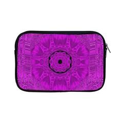 Purple Mandala Fashion Apple Ipad Mini Zipper Cases by pepitasart
