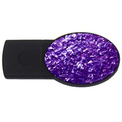 Natural Shimmering Purple Amethyst Mother of Pearl Nacre USB Flash Drive Oval (4 GB) by PodArtist