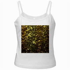 Bright Gold Mother of Pearl Nacre Pattern Ladies Camisoles