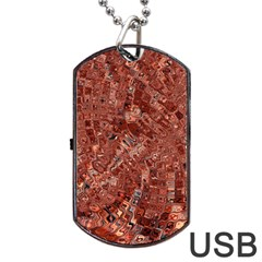 Melting Swirl A Dog Tag Usb Flash (one Side) by MoreColorsinLife