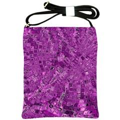 Melting Swirl B Shoulder Sling Bags by MoreColorsinLife