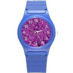 Melting Swirl B Round Plastic Sport Watch (s) by MoreColorsinLife