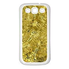 Melting Swirl F Samsung Galaxy S3 Back Case (white) by MoreColorsinLife