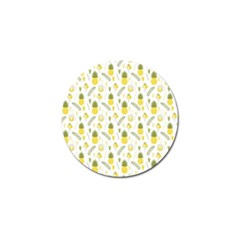 Pineapple Fruit And Juice Patterns Golf Ball Marker (4 Pack) by TastefulDesigns