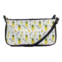 Pineapple Fruit And Juice Patterns Shoulder Clutch Bags by TastefulDesigns