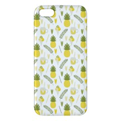 Pineapple Fruit And Juice Patterns Apple Iphone 5 Premium Hardshell Case by TastefulDesigns