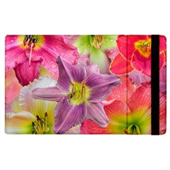 Wonderful Floral 22a Apple Ipad 3/4 Flip Case by MoreColorsinLife