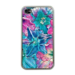 Wonderful Floral 22b Apple Iphone 4 Case (clear) by MoreColorsinLife