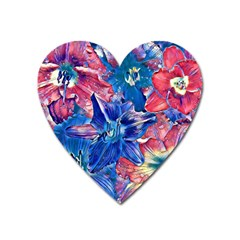 Wonderful Floral 22c Heart Magnet by MoreColorsinLife