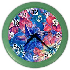 Wonderful Floral 22c Color Wall Clocks by MoreColorsinLife