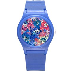 Wonderful Floral 22c Round Plastic Sport Watch (s) by MoreColorsinLife