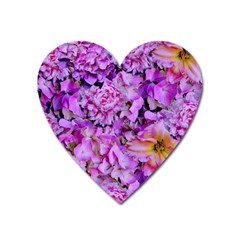 Wonderful Floral 24 Heart Magnet by MoreColorsinLife