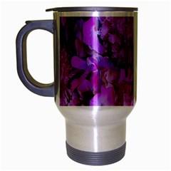 Wonderful Floral 24 Travel Mug (silver Gray) by MoreColorsinLife