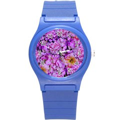 Wonderful Floral 24 Round Plastic Sport Watch (s) by MoreColorsinLife