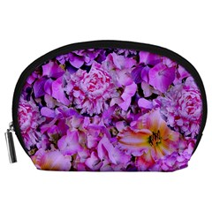 Wonderful Floral 24 Accessory Pouches (large)  by MoreColorsinLife