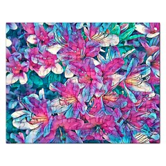Wonderful Floral 25a Rectangular Jigsaw Puzzl by MoreColorsinLife
