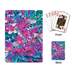 Wonderful Floral 25a Playing Card by MoreColorsinLife