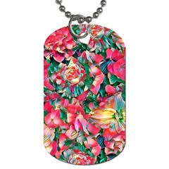 Wonderful Floral 24b Dog Tag (two Sides) by MoreColorsinLife