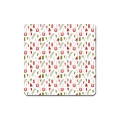 Watermelon Fruit Paterns Square Magnet by TastefulDesigns