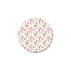 Watermelon Fruit Paterns Golf Ball Marker (4 Pack) by TastefulDesigns