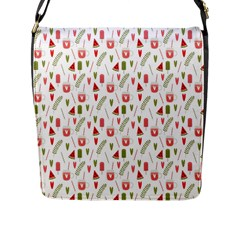 Watermelon Fruit Paterns Flap Messenger Bag (l)  by TastefulDesigns