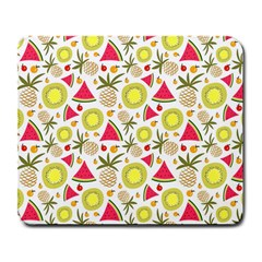 Summer Fruits Pattern Large Mousepads by TastefulDesigns
