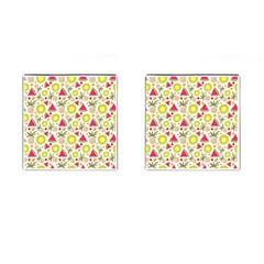 Summer Fruits Pattern Cufflinks (square) by TastefulDesigns