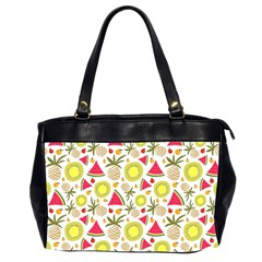Summer Fruits Pattern Office Handbags (2 Sides)  by TastefulDesigns