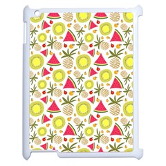Summer Fruits Pattern Apple Ipad 2 Case (white) by TastefulDesigns