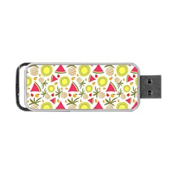 Summer Fruits Pattern Portable Usb Flash (one Side) by TastefulDesigns