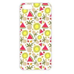 Summer Fruits Pattern Apple Iphone 5 Seamless Case (white) by TastefulDesigns
