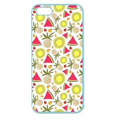 Summer Fruits Pattern Apple Seamless Iphone 5 Case (color) by TastefulDesigns