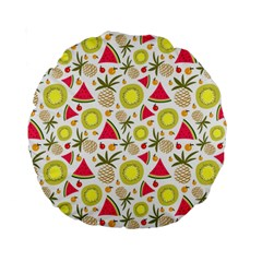 Summer Fruits Pattern Standard 15  Premium Round Cushions by TastefulDesigns