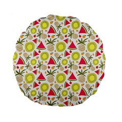 Summer Fruits Pattern Standard 15  Premium Flano Round Cushions by TastefulDesigns