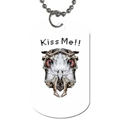 Funny Creepy Alien Headbones Small Dog Tag (one Side) by dflcprints