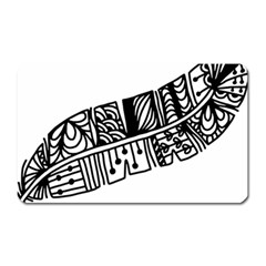 Feather Zentangle Magnet (rectangular) by CraftyLittleNodes