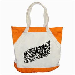 Feather Zentangle Accent Tote Bag by CraftyLittleNodes