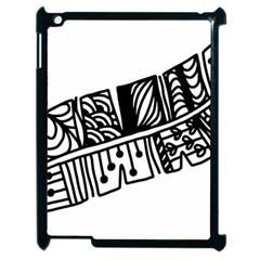 Feather Zentangle Apple Ipad 2 Case (black) by CraftyLittleNodes