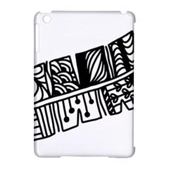 Feather Zentangle Apple Ipad Mini Hardshell Case (compatible With Smart Cover) by CraftyLittleNodes