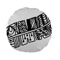 Feather Zentangle Standard 15  Premium Round Cushions by CraftyLittleNodes