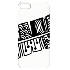Feather Zentangle Apple Iphone 5 Hardshell Case With Stand by CraftyLittleNodes
