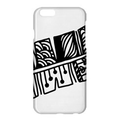 Feather Zentangle Apple Iphone 6 Plus/6s Plus Hardshell Case by CraftyLittleNodes